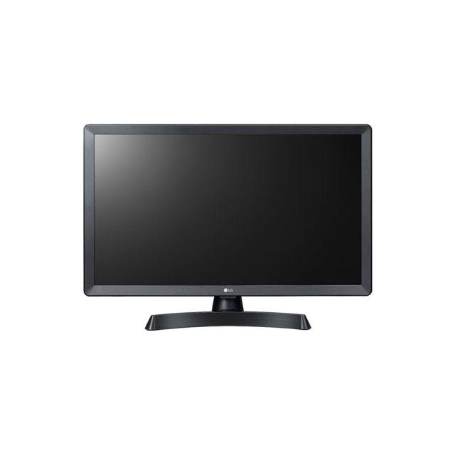 """LG TV LED 24"""" 61 cm - 24TV510V TV 2 en 1: Ecran TV et moniteur. Dalle IPS avec angle de vision élargi. Haut-parleurs intégrés 2x5 W. HDMI, USB. Haut-parleurs intégrés"""