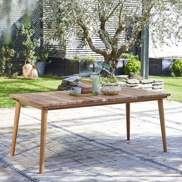 BOIS DESSUS BOIS DESSOUS Table de jardin en bois de teck 6 à 8 places