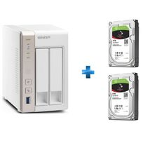 QNAP - TS-251 + 2 disques IronWolf 6 To NAS HDD 3,5