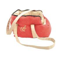 Vadigran - Sac de transport Domino pour chien rouge/beige 40cm