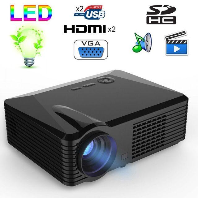 Yonis Vidéoprojecteur Led 2500 Lumens Full Hd 1080P Home cinéma 120W Noir