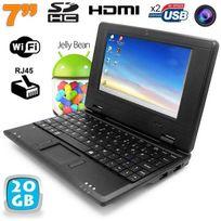 Yonis - Mini Pc Android Kitkat dual core netbook 7 pouces WiFi 20 Go Noir