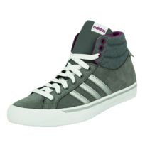 Adidas Neo - Park St Mid W Chaussures Mode Sneakers Femme Suede Gris Violet