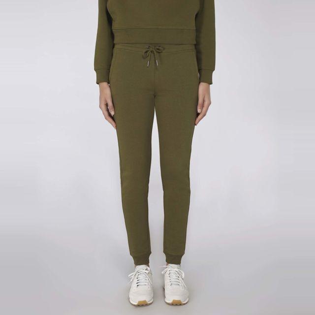 Made In Bio - Pantalon de jogging femme coton bio kaki british Xl - Alameda 0e06e2e4896