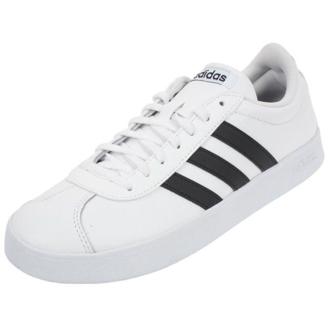 100% authentic c8f76 b993e Adidas - Chaussures mode ville Vl court 2.0 blanc nr Blanc 76441 - pas cher  Achat  Vente Baskets homme - RueDuCommerce