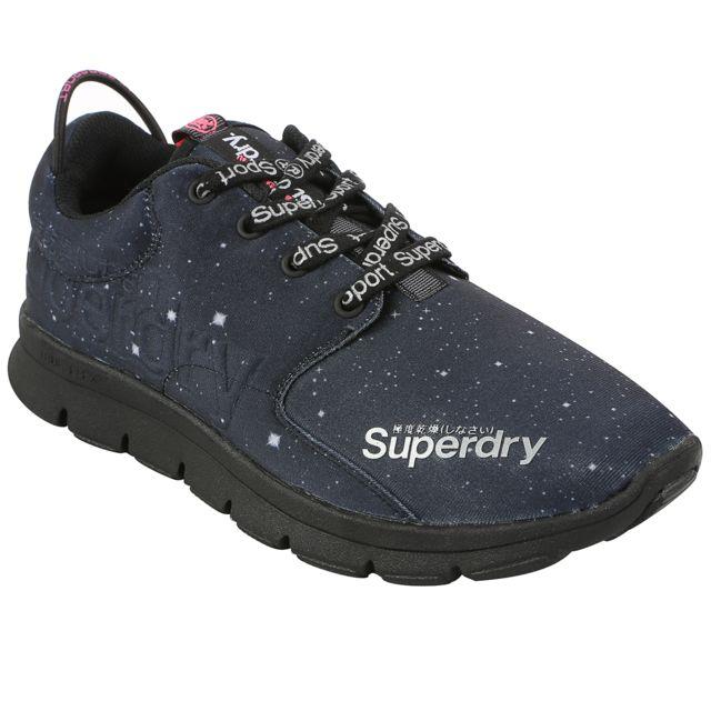 0e780e8b0e5f21 Superdry - Scuba Chaussure Femme - Taille 41 - Noir - pas cher Achat / Vente  Baskets femme - RueDuCommerce