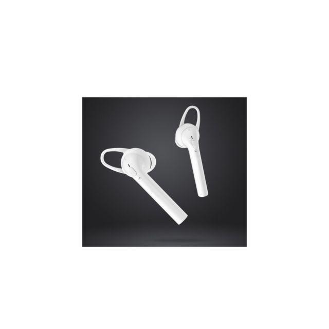 Auto-hightech Écouteurs avec Bluetooth 4.2, Hifi et boîte de charge 400mAh - Blanc