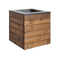 Jardipolys - Jardinière en bois carrée Collectors 45