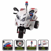 Cristom - Moto electrique de police 6 volts connection Mp3, giro
