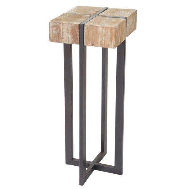 mendler porte plante tabouret table d 39 appoint pour. Black Bedroom Furniture Sets. Home Design Ideas