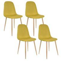 Zons - Lot de 4 Chaise Design Métal Scandinave Anis 45x55xH85cm