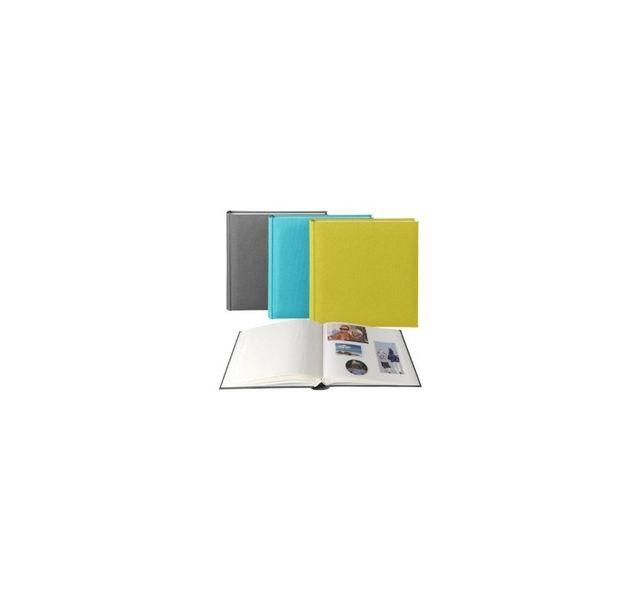 Brepols Publishers - Lot de trois albums photo Rainbow vert bleu gris 100 pages à coller 0cm x 0cm
