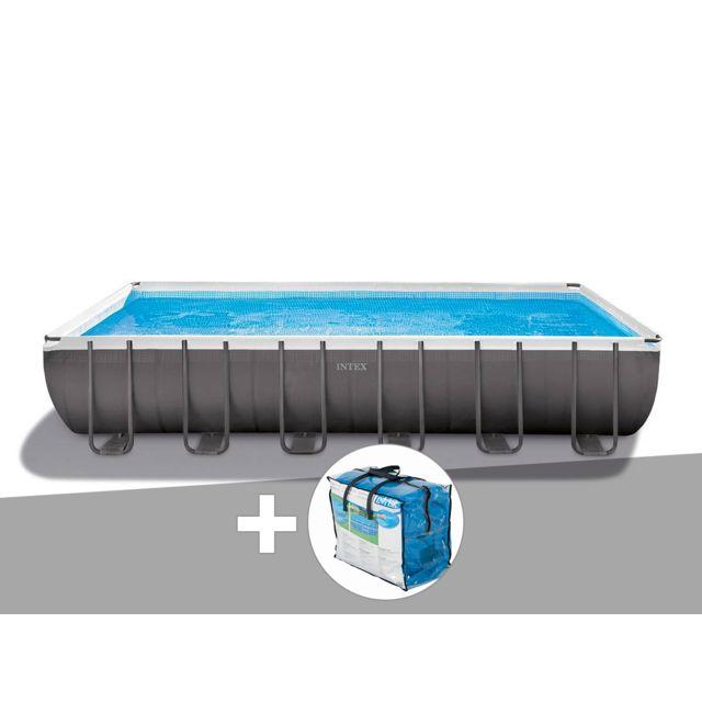 intex kit piscine tubulaire ultra silver rectangulaire 7 32 x 3 66 x 1 32 m b che bulles. Black Bedroom Furniture Sets. Home Design Ideas
