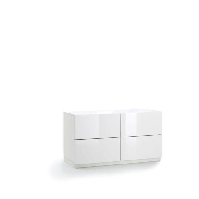 Alinéa - Marina chambre Commode 4 tiroirs laqué blanc - pas ...