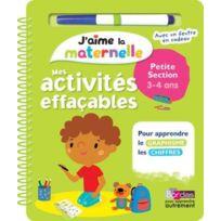Bordas - J'AIME La Maternelle ; mes activités effaçables ; petite section ; 3/4 ans