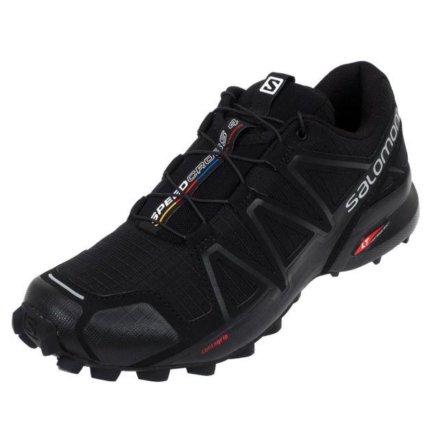Salomon - Chaussures running trail Speedcross 4 noir run Noir 24188