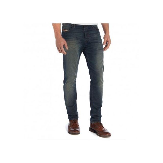de1ed2f4a8e50 Diesel - Tepphar Homme Jean Bleu Multicouleur - W32 L32 - pas cher Achat    Vente Pantalon femme - RueDuCommerce