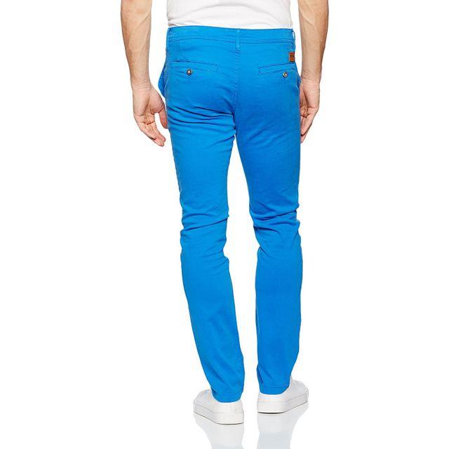 Redskins Pantalon chino french blue en coton stretch, coupe droite - CODY2 MAHEVAN - 31 Pantalon chino en coton stretch, coupe droite