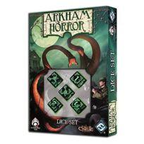 Q-workshop - Jeux de société - Horreur à Arkham : Set de Dés Noir et Vert