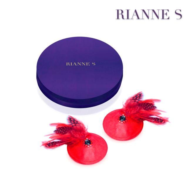 Rianne S - Cache-Seins Birds Rouge Unisexe - Taille unique