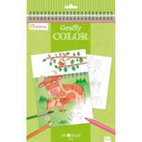 Avenue Mandarine - Carnet de coloriage Graffy Color : Ferme