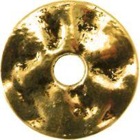 Megacrea - Anneau donut métal 23 mm Doré