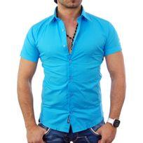 Tazzio - Chemisette homme turquoise Chemise Tz7020 turquoise