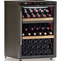 Calice - Cave à vin multi-usages - 2 temp 64 bouteilles - Noir Aci-cal201 - Pose libre