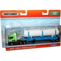 Matchbox - Mbx Cab Tanker Hauler - Camion Citerne Vert Et Bleu - Mattel