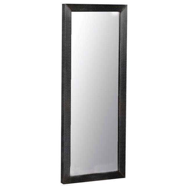 COMFORIUM Miroir mural avec cadre en en acier inoxydable brossé 40x100 cm
