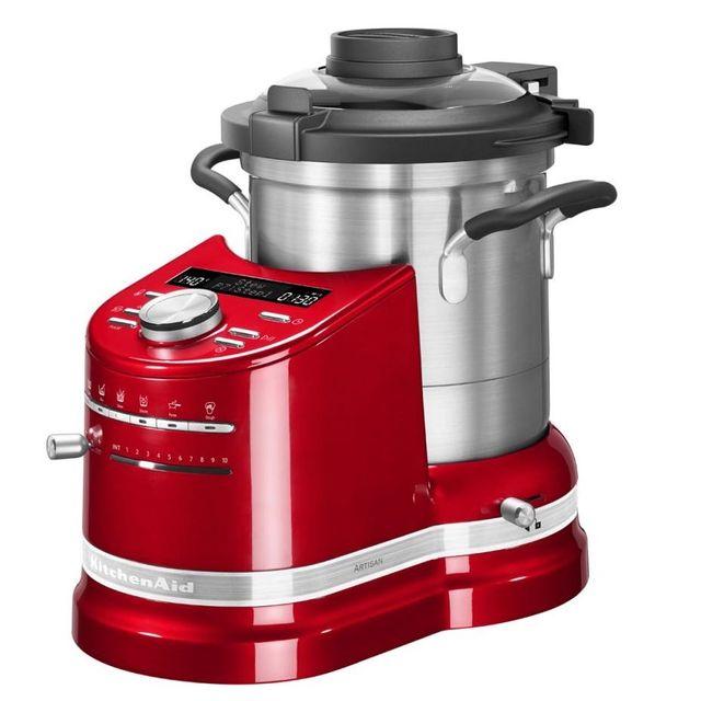 KITCHENAID robot cuiseur multifonction 4.5l 1500w rouge empire - 5kcf0104eer