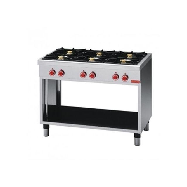 Gastro M Piano de cuisson 6 feux vifs série 650 - soubassement ouvert 650