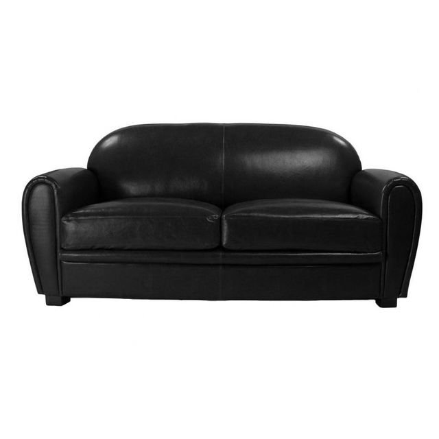 Canap Club Cuir Convertible. Fauteuil Club Aspect Vieux Cuir With
