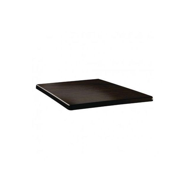 Topalit Plateau de table carré wengé 800 mm Wengé 800 mm