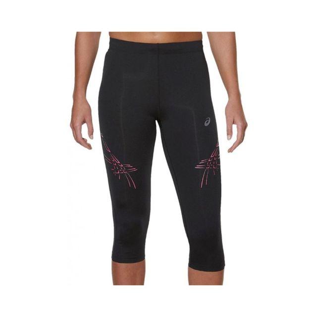 Asics Collant 34 Stripe Noir Running Femme Noir Xs pas