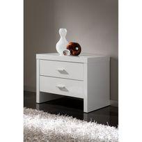 ma maison mes tendances chevet 2 tiroirs en bois laqu brillant blanc maura l - Table De Chevet Laque Blanc Brillant