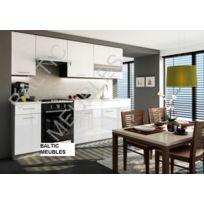 Baltic Meubles - Cuisine Apia blanc laqué - 2m40/8 meubles