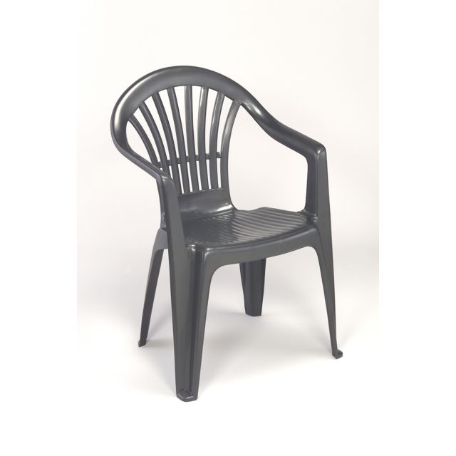 CARREFOUR ALTEA - Chaise de jardin - Anthracite - 662674