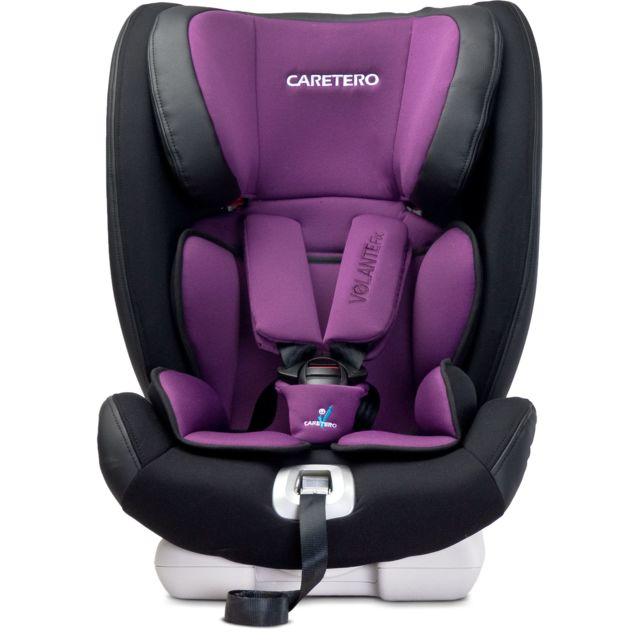 Caretero - Siège auto groupe 1/2/3 bébé enfant 9-36 kg Volante Isofix | Violet
