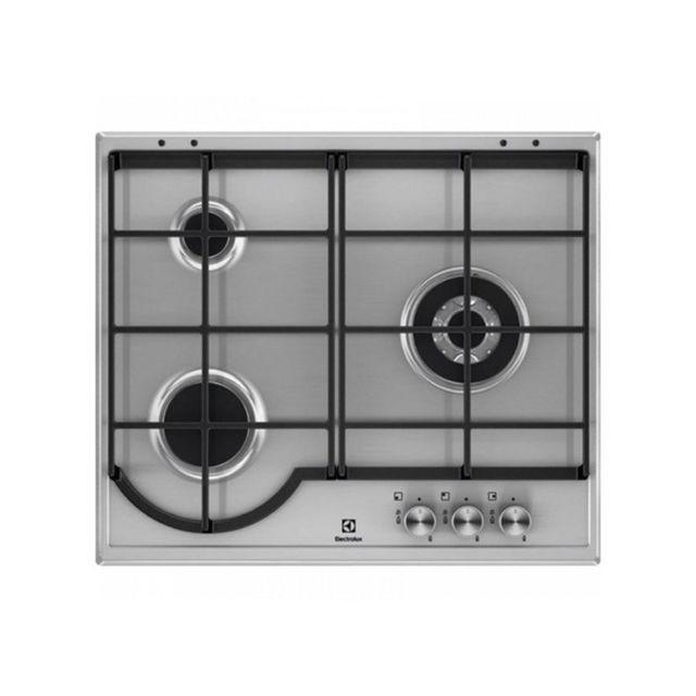 le dernier 132e4 c7fee Plaque au gaz Egh6333BOX 60 cm Acier inoxydable 3 cuisinière