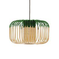 Forestier - Bamboo - Suspension d'extérieur Bambou/Vert H23cm - Luminaire d'extérieur designé par Arik Levy