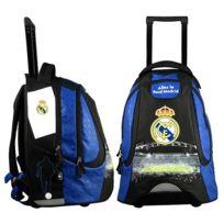 Real Madrid - Sac à dos à roulettes 2 compartiments bleu