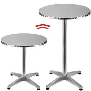rocambolesk superbe table de bar table haute bistrot aluminium table ronde acier inox. Black Bedroom Furniture Sets. Home Design Ideas