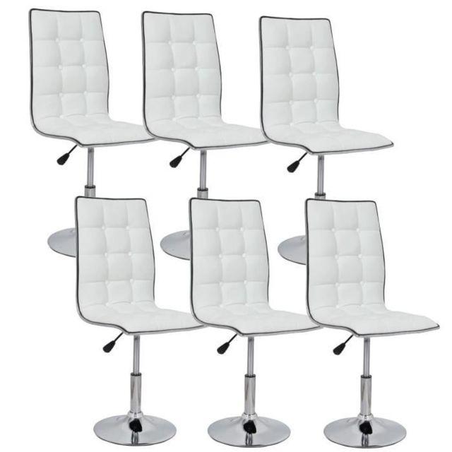 de Leaf blanches a manger Lot chaises salle Chaise 6 de RAL45j