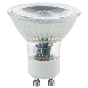 eglo lot de 2 ampoules led gu10 5w cob 400 lumens 3000k blanc chaud lighting 11511 pas. Black Bedroom Furniture Sets. Home Design Ideas