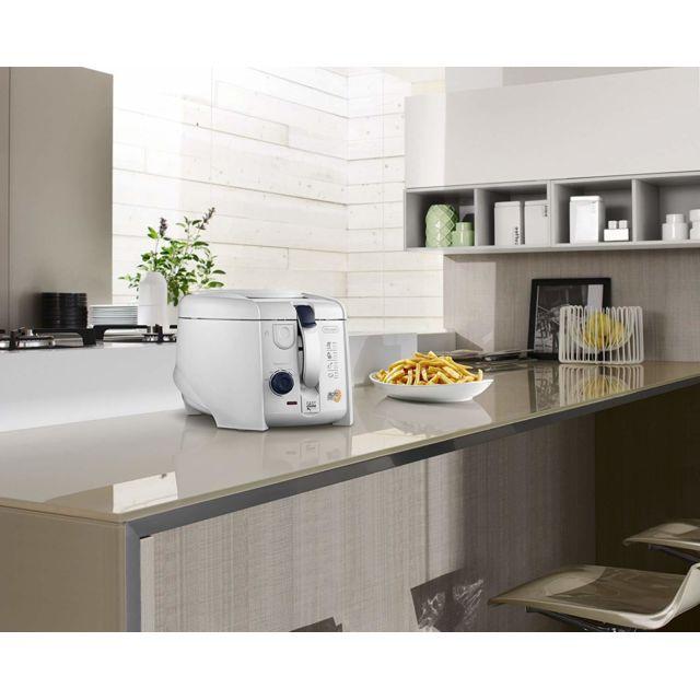 Delonghi friteuse électrique 1,2L de 1kg avec thermostat ajustable 1800W blanc