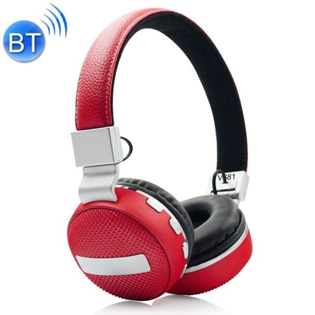 Wewoo Casque Bluetooth 42 Sans Fil V681 Avec Carte Micro Fm Tf