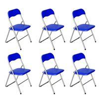 atmosphera chaise m daillon cleon bleu marine pas cher achat vente chaises rueducommerce. Black Bedroom Furniture Sets. Home Design Ideas