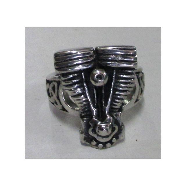 698c0414d7975 Universel - Bague moteur moto v twin V2 11us chevaliere biker motard homme