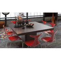 Tema Home - TemaHome table repas Dusk 150 x 150 cm en bois teintée chocolat